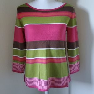 Izod Perfectly Preppy Stripped Sweater
